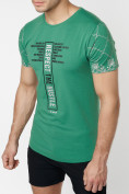 Оптом Подростковая футболка зеленого цвета 220072Z в Екатеринбурге, фото 7