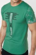 Оптом Подростковая футболка зеленого цвета 220072Z в Екатеринбурге