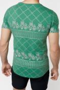 Оптом Подростковая футболка зеленого цвета 220072Z в Екатеринбурге, фото 3