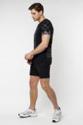 Оптом Подростковая футболка черного цвета 220072Ch, фото 6
