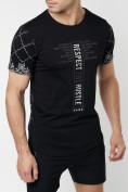 Оптом Подростковая футболка черного цвета 220072Ch, фото 3