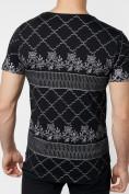 Оптом Подростковая футболка черного цвета 220072Ch, фото 4
