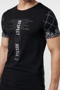 Оптом Подростковая футболка черного цвета 220072Ch, фото 8
