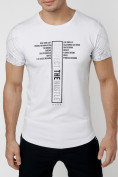 Оптом Подростковая футболка белого цвета 220072Bl в Екатеринбурге