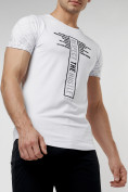 Оптом Подростковая футболка белого цвета 220072Bl в Екатеринбурге, фото 2