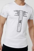 Оптом Подростковая футболка белого цвета 220072Bl в Екатеринбурге, фото 3