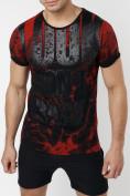 Оптом Подростковая футболка черного цвета 220077Ch в Екатеринбурге, фото 8