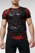 Оптом Подростковая футболка черного цвета 220077Ch в Екатеринбурге, фото 2
