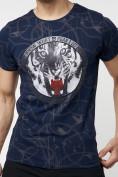 Оптом Подростковая футболка темно-синего цвета 220081TS в Екатеринбурге, фото 3