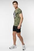 Оптом Подростковая футболка хаки цвета 220081Kh в Екатеринбурге, фото 5