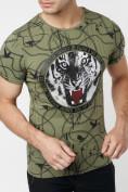 Оптом Подростковая футболка хаки цвета 220081Kh в Екатеринбурге