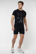 Оптом Подростковая футболка черного цвета 220088Ch в Екатеринбурге, фото 4