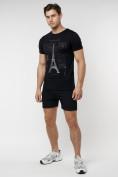 Оптом Подростковая футболка черного цвета 220088Ch в Екатеринбурге, фото 5