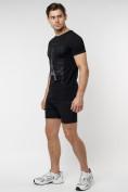 Оптом Подростковая футболка черного цвета 220088Ch в Екатеринбурге, фото 6