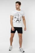 Оптом Подростковая футболка белого цвета 220088Bl в Екатеринбурге, фото 5