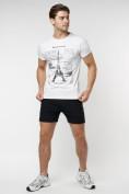 Оптом Подростковая футболка белого цвета 220088Bl в Екатеринбурге, фото 6