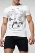 Оптом Подростковая футболка белого цвета 220088Bl в Екатеринбурге, фото 2