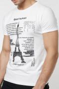 Оптом Подростковая футболка белого цвета 220088Bl в Екатеринбурге, фото 4