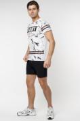 Оптом Подростковая футболка белого цвета 220144Bl в Екатеринбурге, фото 3