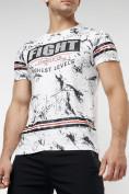 Оптом Подростковая футболка белого цвета 220144Bl в Екатеринбурге