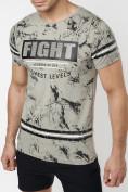 Оптом Подростковая футболка серого цвета 220144Sr в Екатеринбурге, фото 8