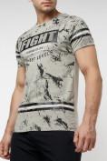 Оптом Подростковая футболка серого цвета 220144Sr в Екатеринбурге, фото 2