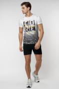 Оптом Подростковая футболка белого цвета 220145Bl в Екатеринбурге, фото 5