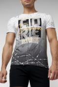 Оптом Подростковая футболка белого цвета 220145Bl в Екатеринбурге, фото 3