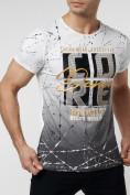 Оптом Подростковая футболка белого цвета 220145Bl в Екатеринбурге, фото 4