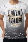 Оптом Подростковая футболка белого цвета 220145Bl в Екатеринбурге