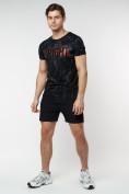 Оптом Подростковая футболка черного цвета 220146Ch в Екатеринбурге, фото 5