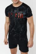 Оптом Подростковая футболка черного цвета 220146Ch в Екатеринбурге, фото 3