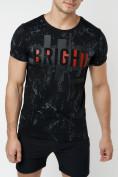 Оптом Подростковая футболка черного цвета 220146Ch в Екатеринбурге, фото 4