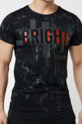 Оптом Подростковая футболка черного цвета 220146Ch в Екатеринбурге
