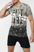 Оптом Подростковая футболка бежевого цвета 220147B в Екатеринбурге, фото 3