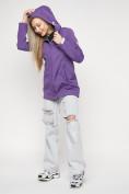 Оптом Ветровка женская MTFORCE фиолетового цвета 20371F в Екатеринбурге, фото 9