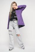 Оптом Ветровка женская MTFORCE фиолетового цвета 20371F в Екатеринбурге, фото 2