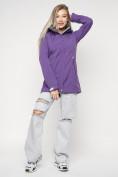 Оптом Ветровка женская MTFORCE фиолетового цвета 20371F в Екатеринбурге, фото 4