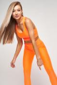 Оптом Костюм для фитнеса персикового цвета 22098P в Казани, фото 5