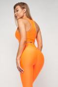 Оптом Костюм для фитнеса персикового цвета 22098P в Казани, фото 10
