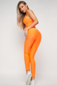 Оптом Костюм для фитнеса персикового цвета 22098P в Казани, фото 11