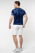 Оптом Мужская футболка варенка темно-синего цвета 221004TS в Екатеринбурге, фото 7
