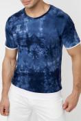 Оптом Мужская футболка варенка темно-синего цвета 221004TS в Екатеринбурге, фото 3