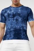 Оптом Мужская футболка варенка темно-синего цвета 221004TS в Екатеринбурге