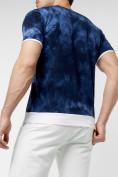 Оптом Мужская футболка варенка темно-синего цвета 221004TS в Екатеринбурге, фото 4