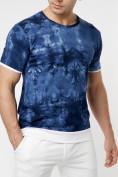 Оптом Мужская футболка варенка темно-синего цвета 221004TS в Екатеринбурге, фото 2