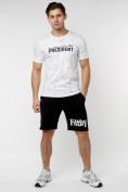 Оптом Мужская футболка с надпесью белого цвета 221038Bl в Екатеринбурге, фото 8