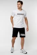 Оптом Мужская футболка с надпесью белого цвета 221038Bl в Екатеринбурге, фото 7