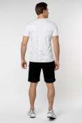 Оптом Мужская футболка с надпесью белого цвета 221038Bl в Екатеринбурге, фото 9