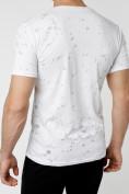 Оптом Мужская футболка с надпесью белого цвета 221038Bl в Екатеринбурге, фото 4